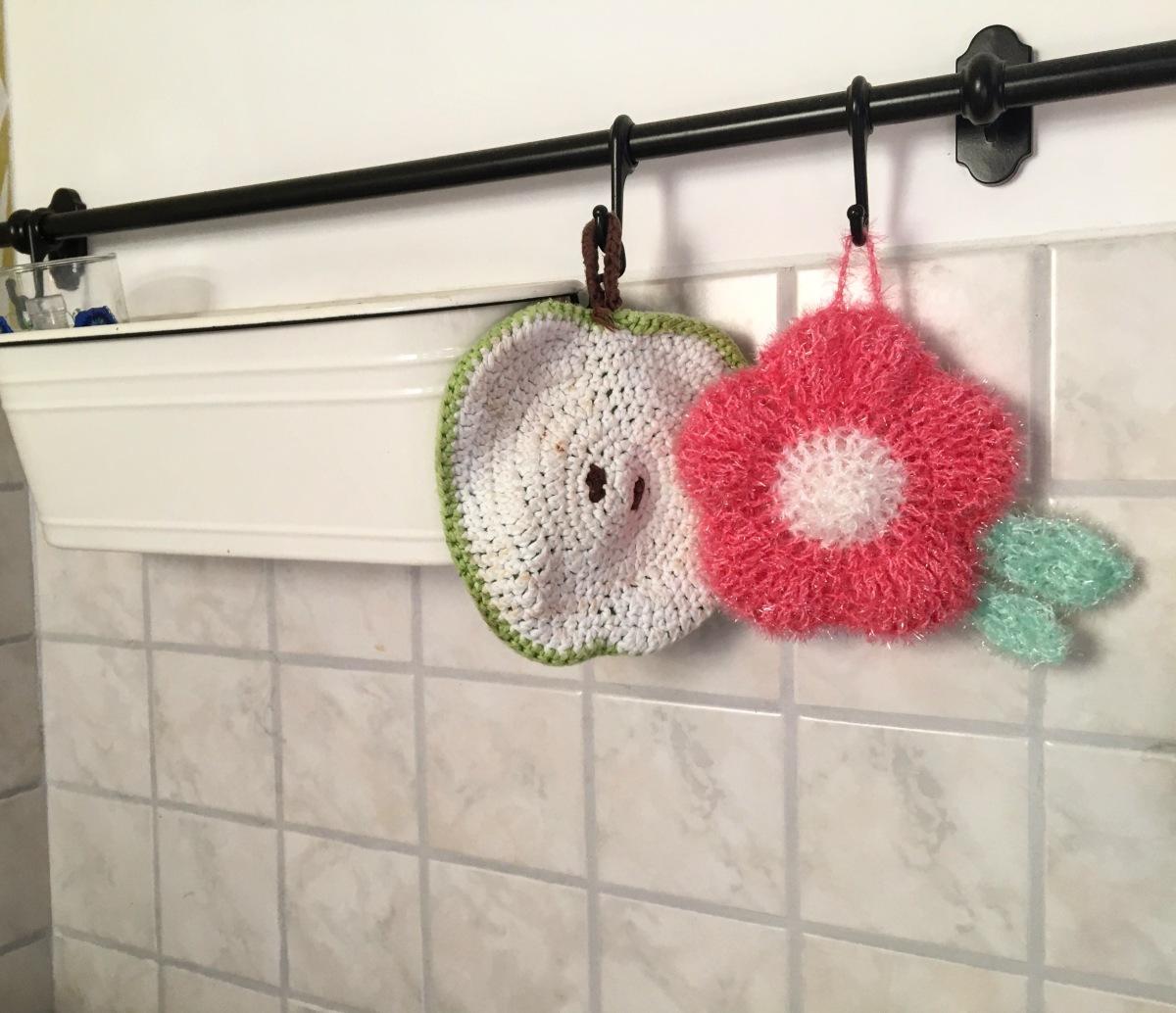 Eine Gehäkelte Spülblüte Frau Häkel